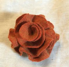 A personal favorite from my Etsy shop https://www.etsy.com/listing/244446786/orange-fall-pin-brooch-cashmere-upcycled