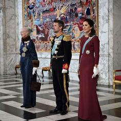 Queen Margrethe,Crown Prince Frederik and Crown Princess Mary at New Year Reception for diplomatic crops