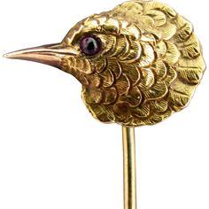 Bird Jewelry, Animal Jewelry, Antique Jewelry, Vintage Jewelry, Owl Artwork, Birds And The Bees, Stick Pins, Edwardian Era, Hat Pins