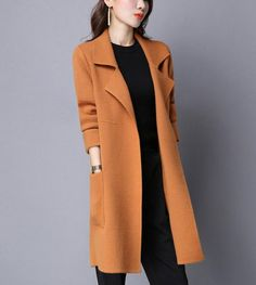 Your place to buy and sell all things handmade Winter Coats Women, Coats For Women, Knitted Coat, Medium Long, Vest Jacket, Cardigans For Women, Knit Cardigan, Sleeve Styles, Clothes
