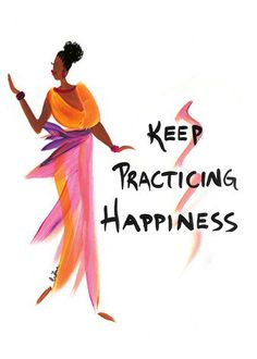 Keep Practicing Happiness: Cidne Wallace Magnet