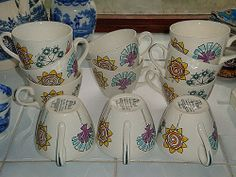 Collection of Fleur Tea Cups Gothenburg, Tea Cups, Invitations, Mugs, Collection, Design, Flowers, Tumblers, Mug