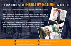 3 rules for healthy eating on the go Health Memes, Bowl Of Cereal, Low Fat Yogurt, Side Salad, Healthy Eating, Food, Eating Healthy, Healthy Nutrition, Clean Foods
