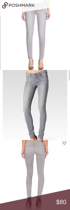 Paige Denim Verdugo Ultra Skinny Dove Grey Jeans Paige Denim Verdugo Ultra Skinny Jeans in Dove Grey, women's size 26. Super soft and comfortable! These are in excellent condition and have only been worn a few times. Sold out online! Retail value is $195 PAIGE Jeans