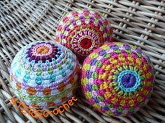 Crochet pattern rainbow ball