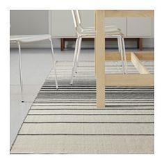 RISTINGE Teppich flach gewebt, elfenbeinweiß Handarbeit elfenbeinweiß, schwarz - IKEA
