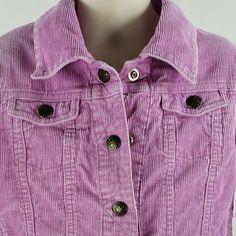 725501e60af5f Details about Girls Size 5 Jacket OshKosh Light Purple Corduroy Snap Front  Youth Kids
