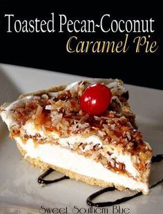 Caramel Pecan Coconut Pie