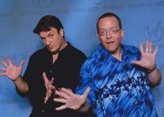 """Me with the amazing colossal Nathan Fillion from """"Firefly"""", """"Castle"""", and more more more. Wizard World Chicago, 2015."""
