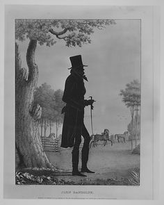 Silhouette Portrait of John Randolph by William Henry Brown.  South Carolina.