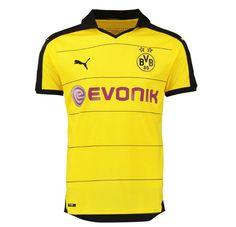 Borussia Dortmund 2015 2016 Home Football Shirt- Available at  uksoccershop.com Bongs 40d9b5cc2