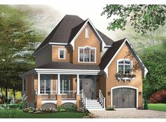 Country House Plan with 1864 Square Feet and 3 Bedrooms from Dream Home Source | House Plan Code DHSW65316