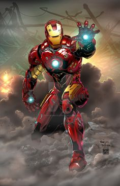 Iron Man by jasonbaroody on DeviantArt Iron Man Avengers, The Avengers, Marvel Comics Art, Marvel Vs, Marvel Heroes, Iron Man Kunst, Iron Man Art, Comic Book Heroes, Comic Books Art