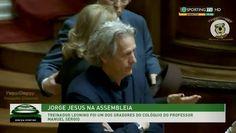 Jorge Jesus Discursou na Assembleia da Républica.. Vai largar o Sporting para ser politico