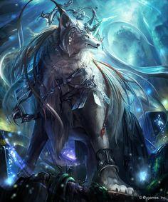 古き森の白狼