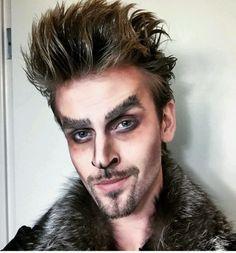 Image result for werewolf halloween makeup men
