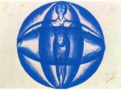 """Giacomo Balla """"Mimicry synoptic': the sky-woman"""" 1915 Museo Teatrale alla Scala, Milan"""