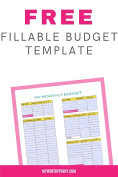 Free printable budget printable. Use this free fillable budget planner to create your monthly budget and stick with it. If yo have not budgeted before, it is never too late to start budgeting. This free printable monthly budget template will help you.