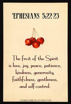 The Breadbox Letters: Fruit in Season