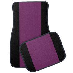 Purple uni  Car Mats Full Set (set of 4) Car Mat ,http://www.zazzle.com/costasonlineshop*