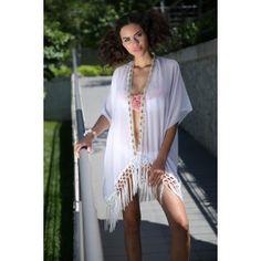 Lovekini Beachwear - Citrine Beyaz Kimono