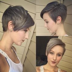 Layered Side-Parted Pixie
