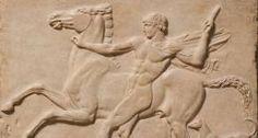 Bas-relief en marbre de la Villa Adriana, près de Tivoli, jeune romain tentant de maîtriser son cheval, 125, British Museum, photographie:Marie-Lan Nguyen (L