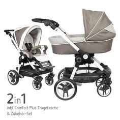#Teutonia #Kombikinderwagen #Beyou V3 - Premium Kinderwagen für aktive Eltern inklusive Tragetasche, Sportsitzeinheit und exklusivem Zubehör! Gibt's bei  #Babyartikel.de