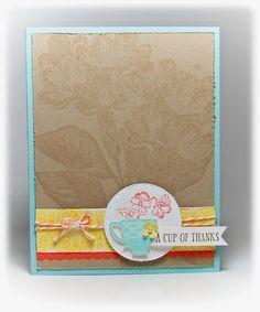 Tea Shoppe stamp set & Sweet Floral background stamp. by Jenn Picard