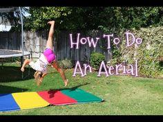 How To Do An Aerial (no hand cartwheel) - YouTube