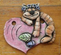 Лепка - Хрюшка и влюбленный кот Соленое тесто