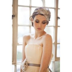 Art Deco Bridal Headdress and french grey sash by Victoria Mary Vintage with photography by Hannah Mia Photography