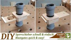 Sperrschieber für Absaugung einfach und schnell selber bauen! Blastgates quick and easy build! - YouTube