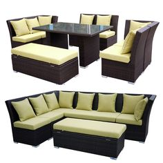 Jamaican Dining and Sectional Sofa Set - 2 in 1 now available at $1785   sc 1 st  Pinterest : dining sectional - Sectionals, Sofas & Couches