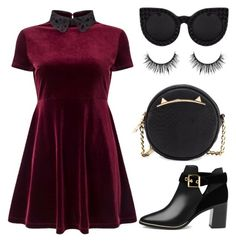"""""""Untitled #122"""" by sofia940 on Polyvore featuring Miss Selfridge, Ted Baker, Betsey Johnson and Delalle"""