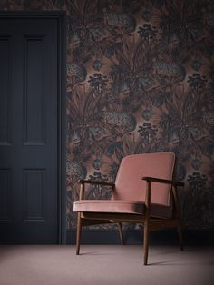 Our iconic print featuring tropical palms, jungle foliage, and big cats. Faunacation - Home Wallpaper Online combines a bold color palette of vibrant blues and reds for a fabulous finish whether it's for a bright feature wall or a complete room.