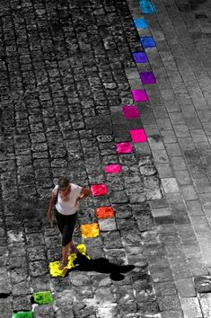 Colorize your life- It would be cool to watch a square or plaza and colour the desire lines or paths people use most...