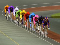 Keirin racing.