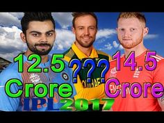 IPL 2017 Highest Paid Players List ○ Most Expensive Cricketers Sold in I..