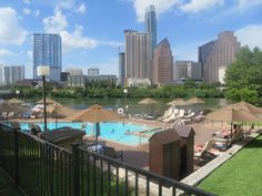 View of downtown from the pool at the Hyatt