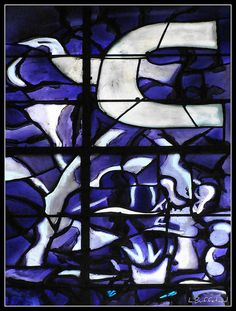 Glass by Georges Braque, Saint-Paul-de-Vence, Alpes-Maritimes, France