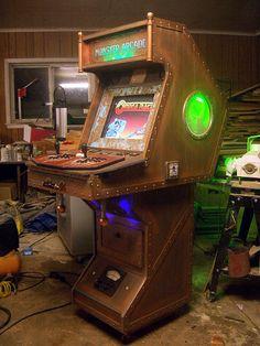 Steampunk arcade cabinet by Dough Haffner. Nice job Dough! :)