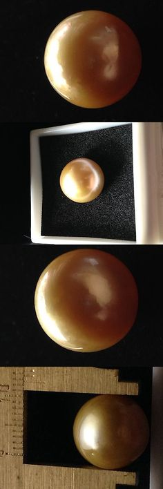 Pearl 10243: Golden South Sea Pearl 12.5 Mm Round Undrilled -> BUY IT NOW ONLY: $199.9 on eBay!