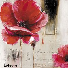 Hand Painted oil on canvas flower print. http://www.worldstores.co.uk/p/Pharmore_Hand_Painted_Oil_on_Canvas_Flower_Print.htm