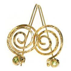Peridot Spiral earrings Dangling earings Large spiral earrings – Handmade with love from Greece Handmade Sterling Silver, Sterling Silver Jewelry, Silver Earrings, Dangle Earrings, Silver Ring Designs, Mens Silver Rings, Greek Jewelry, Evil Eye Jewelry, Beaded Jewelry
