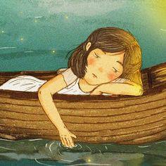 """when you feel uncomfortable, troubled, anxious, melancholy....""  .  .  .  .  .  #hililio  #illustration  #illustrator  #childrenillustration  #childrenillustrator  #drawing  #artwork  #digitaldrawing  #fairytale  #bestillustration  #photoshop  #illustgram"