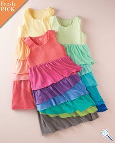 Ruffled Knit Tank Dress