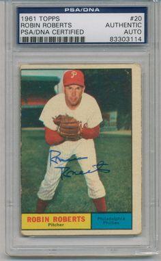 Robin Roberts 1961 Topps 20 PSA DNA Auto Signed 83303114 | eBay #robinroberts #roberts #1961 #topps #signedcard #autograph