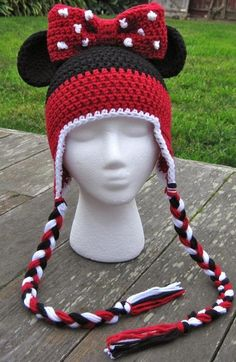Minnie Mouse Ears Stripe Hat baby-adult by Lizzziee, image 1: