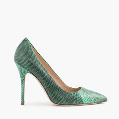 J.Crew Womens Collection Roxie Snakeskin Pumps (Size 7.5 M)